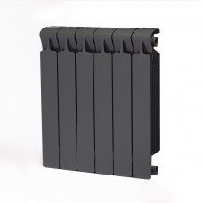 Биметаллический радиатор RIFAR Monolit 500 6 сек. Титан (RAL 7012 серый)