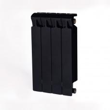 Биметаллический радиатор RIFAR Monolit 500 4 сек. Антрацит (RAL 9005 чёрный)