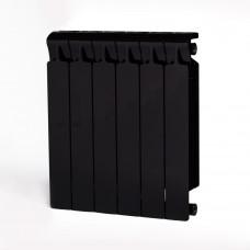 Биметаллический радиатор RIFAR Monolit 500 6 сек. Антрацит (RAL 9005 чёрный)