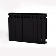 Биметаллический радиатор RIFAR Monolit 500 8 сек. Антрацит (RAL 9005 чёрный)