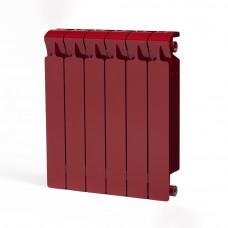 Биметаллический радиатор RIFAR Monolit 500 6 сек. Бордо (RAL 3011 красный)