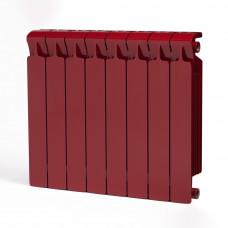 Биметаллический радиатор RIFAR Monolit 500 8 сек. Бордо (RAL 3011 красный)
